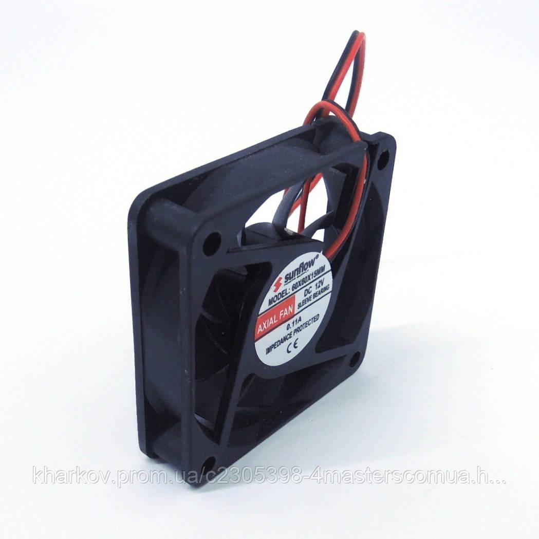 Вентилятор 12 V 60x60x15 (0.11A)