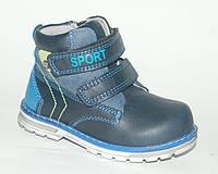Демисезонные ботинки для мальчиков синие, Солнце, 21,22,24 р., фото 1