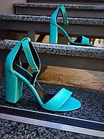 Кожаные босоножки Olimpia, лазурного цвета