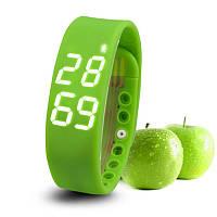 Часы Водонепроницаемый Смарт браслет  W2 яблоко-зелёный! Хит!