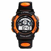 Спортивные часы черно-оранжевого цвета NT-88F