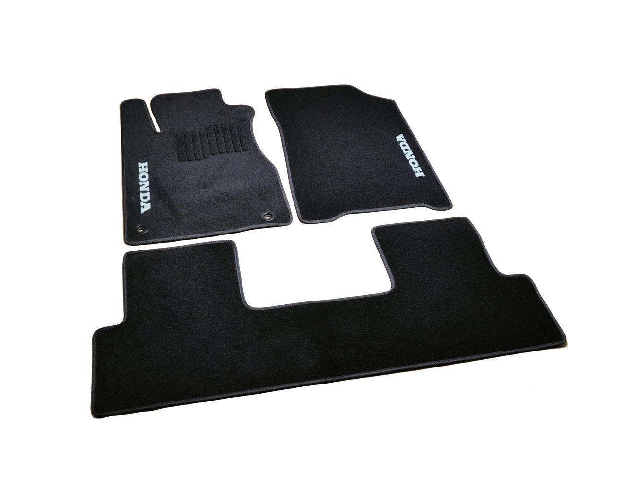 Коврики в салон ворсовые AVTM для Honda CR-V (2012-) (АКПП) /Чёрные, кт. 3шт BLCCR1207