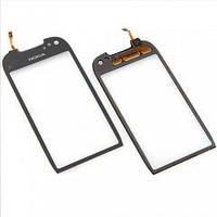 Оригинальный тачскрин / сенсор (сенсорное стекло) с рамкой для Nokia C7 C7-00 (черный цвет)