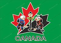 Мультфильм Шайбу! Шайбу!, иллюстрация  Канада. Векторный клипарт.