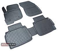 Коврики в салон SEAT LEON 3 ДВЕРЕЙ с 2013- , цвет черный, Avto-Gumm
