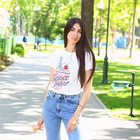 Стильная белая молодежная футболка SPACE SHAKE В20549, фото 1