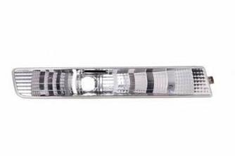 Ліхтар покажчика повороту на Opel Vivaro 01->06 R (правий, білий, в бампері) — Depo(Тайвань) - 442-1601R-AE