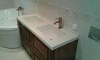 Столешница в ванную с двумя мойками