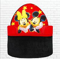 Детское мягкое кресло, Микки Маус,черное