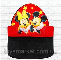 """Мягкое детское кресло """"Микки Маус и Минни Маус"""" 57 см, плюшевое кресло, кресло-игрушка, Mickey, Minni Mouse"""