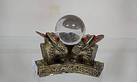 Три жабы с шаром  под бронзу