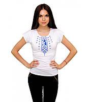 Сучасна вишита футболка. Жіноча вишита футболка. Біла футболка з вишитими маками.
