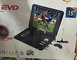 """Портативный ДВД 15"""" (Аккумулятор/USB/CD/DVD/TV)"""