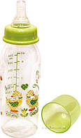 Бутылочка 250 мл с силиконовой соской Бусинка 1102