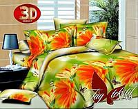 Набор постельного белья 3D двуспальный Цветы