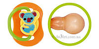 Пустышка круглая латексная 3-6 мес Бусинка 1405