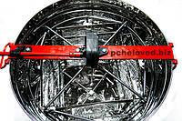 Медогонка Нержавеющая с поворотом кассет на 4 рамки, кассеты оцинкованные под рамку «РУТА 230 мм»