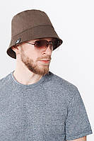 Панама коричневая хлопковая Urban Planet KHK (панама мужская, панама женская, панамка, шапка, головной убор)