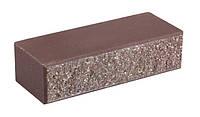Кирпич облицовочный для забора LAND BRICK двухсторонний (двухложковой) с фаской коричневый 250х100х65 мм