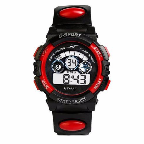 Спортивные часы черно-красного цвета NT-88F