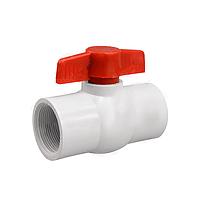 Шаровой кран PF-0120 белый, ½ дюйма, в упаковке 10 штук, внутренняя резьба 12 мм, поливинилхлорид