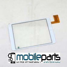 "Оригинальный Cенсор (Тачскрин) для планшета 7.85"" Icoo iCou Fatty 3G (197*132 мм, 45pin) (Белый-Самоклейка)"