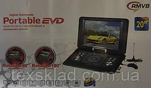 """Портативний ДВД 20"""" (Акумулятор/USB/CD/DVD/TV)"""