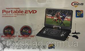 """Портативний ДВД 21"""" (Акумулятор/USB/CD/DVD/TV)"""