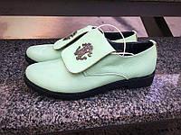 Туфли в стиле Rob Cavalli из натуральной кожи мятного цвета