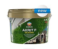 Краска силиконизированная ESKARO AKRIT F SILICONE фасадная база TR, 2,7л
