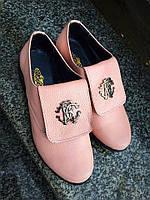 Туфли в стиле Rob Cavalli из натуральной кожи цвета пудры