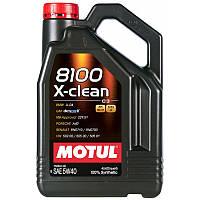 Motul 8100 X-CLEAN 5W-40 - синтетическое моторное масло - 4 л.