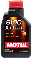 Motul 8100 X-CLEAN 5W-30 - синтетическое моторное масло - 1 л.