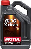 Motul 8100 X-CLEAN 5W-30 - синтетическое моторное масло - 5 л.
