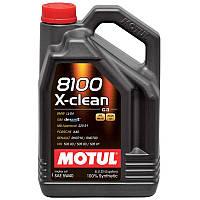 Motul 8100 X-CLEAN 5W-40 - синтетическое моторное масло - 5 л.
