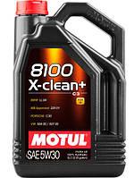 Motul 8100 X-CLEAN+ 5W-30 - синтетическое моторное масло - 5 л.
