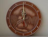 """Резные настенные часы """"Мельница"""" с патиной, фото 1"""