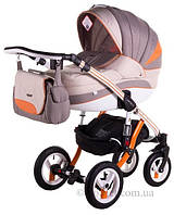 Универсальная коляска Adamex Aspena Grand Prix Collection 9 серый Orange-White