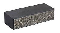 Кирпич облицовочный для забора LAND BRICK двухсторонний (двухложковой) с фаской черный 250х100х65 мм