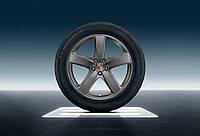 Комплект зимних колес с 19-дюймовыми дисками Sport Classic, лакировка платинового цвета (шелковисто-глянцевая)