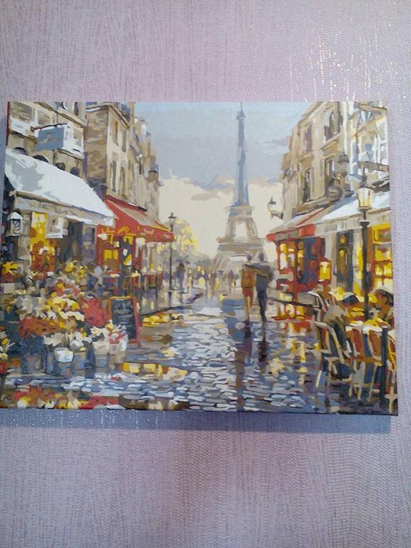 """Раскраска по номерам """"Париж после дождя Худ МакНейл Ричард"""""""