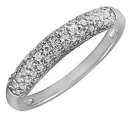 Кольцо из серебра с куб. циркониями 173471,