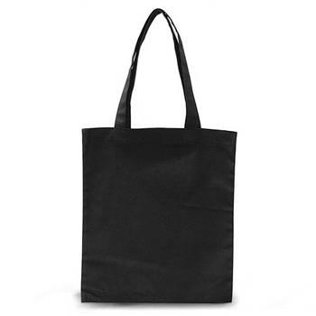 Еко-сумка для друку 35х41 див. Бавовна. Колір ЧОРНИЙ
