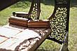 """Качели для сада """"Эмир"""" черного/коричневого цвета (с мягкой частью), материал основы сидения - дуб, фото 4"""
