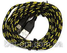 Кабель USB-micro USB круглый в оплетке (черный)