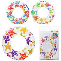 Детский надувной круг для плавания, Цветной, 59241 Intex, 61 см, 3 вида