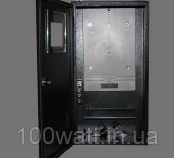 Щит металлический ШМР-3 Ф под 3ф счетчик на 6 модулей наружный герметичный