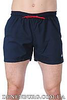 Мужские пляжные шорты LACOSTE 8001-16 тёмно-синие