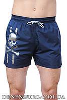 Мужские пляжные шорты PHILIPP PLEIN 2017-26 тёмно-синие, синие