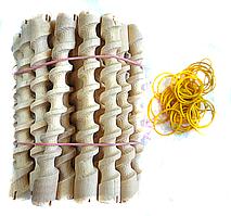 Коклюшки спиральные деревянные короткие, (120 мм/10мм)